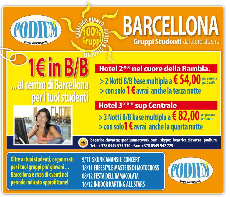 1 euro in b b al centro di barcellona dal al 26 for B b barcellona economici centro